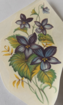 "5 Violets Waterslide Ceramic Decals 3.5"" - Vintage - $2.75"