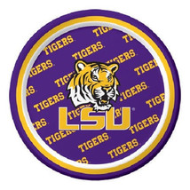 """LSU Tigers Paper 7"""" Dessert Lunch Cake Plates 8 ct Tailgating Football P... - $3.32"""