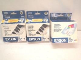 Epson S020110 S020193 T0530(1) & 2x Black S020187 S020093 T0501 2010 ink... - $16.21