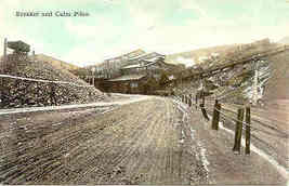 A Coal Breaker and Culm Piles Vintage Post Card - $6.00
