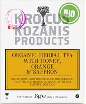 Krocus kozanis Organic 100% Greek Herbal Tea with Honey, Orange & Saffron - $11.00