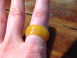 Golden Agate Natural Stone Wide Band Ring Size 7.25 - 7.5 image 2