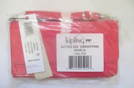 Kipling Marla Crossbody Clutch Vibrant Pink AC7... - $49.49