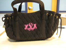Vera Bradley Expresso Quilted Microfiber Handbag  - $20.00