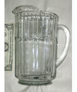 "Vintage 8"" Thick LRG 32oz Heavy 3.9lb Clear Glass Beer Beverage Party Pi... - $21.60"
