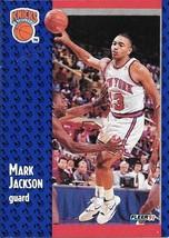 Mark Jackson ~ 1991-92 Fleer #137 ~ Knicks - $0.05