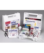 10 Person 62 Piece Bulk First Aid Kit with Plastic Case and Dividers  - $23.74