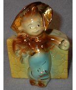 Vintage Shawnee Country Boy Planter Gold High Lights - $20.00