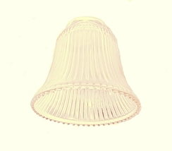Clear Ribbed Bell Pale Amber Light Shade Ceiling Fan Wall Sconce Chandelier - $9.95
