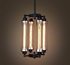 Edison Bulb Chandelier 4 lights Lobby Hanging Mid Century pendant light - $306.90