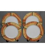 Set (4) MIKASA ULTIMA+ Super Strong Fine China STRATA PATTERN Dinner Plates - $39.59