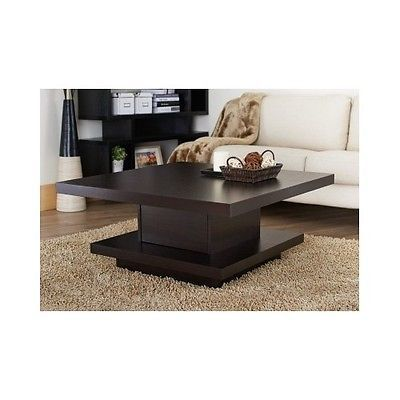 Coffee End Table Living Room Storage Modern Square Wood Furniture Accent Draw