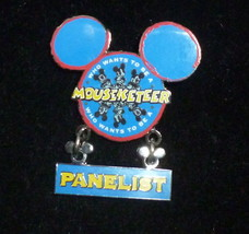Disney Mouseketeer Panelist Pin Who wants to be a Mouseketeer - £11.78 GBP