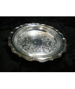 Vintage Eales 1779 Silverplate Ornate Design Large Round Pie Serving Tray - $44.54