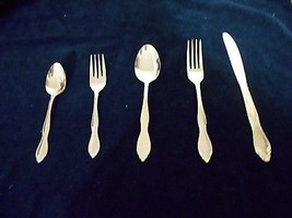 Vintage Customcraft Gold Electroplated Flatware Japan CUS11GE 30 pcs - $7.71+