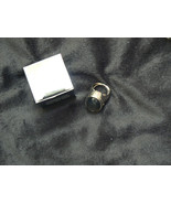 Awesome Mark/Avon Silvertone Rebel Rose Holidays Rocks Solid Fragrance Ring - $16.82