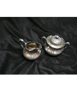 Antique/Vintage Reed & Barton M.F&D Plated Large Creamer & Sugar Bowl wi... - $34.64