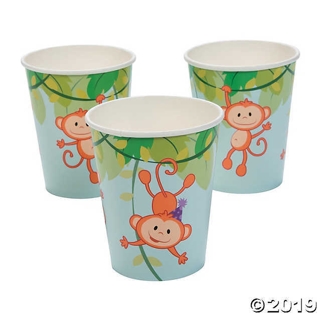 1st Birthday Zoo Paper Cups - $2.61