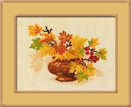 Autumn Bouquet Cross Stitch Kit Riolis - $19.00