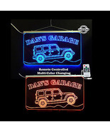 Personalized Jeep LED Man Cave Garage Sign - Hanging Sign - Remote Contr... - $140.00