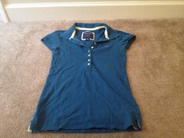 American Eagle Outfitters Women's Polo Shirt Blue Sz S/P - $33.75