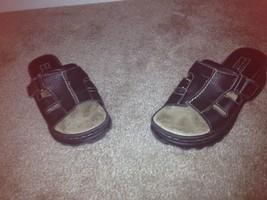 Arizona Little Girl's Sandals Sz 1 Black Slip On Sandals - $31.39