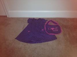 Carter's Baby Girl's Dress Sz 12 Months Polka Dot Snap Crotch Dress Blue/White - $25.82