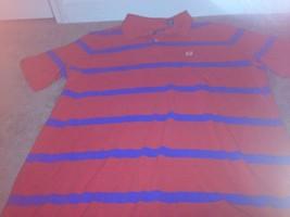 CHAPS Men's Polo Shirt Sz 2XT Red/Blue Striped Shirt - $25.00