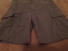 Merona Mens Cargo Casual Shorts Sz 36 Gray - $23.13