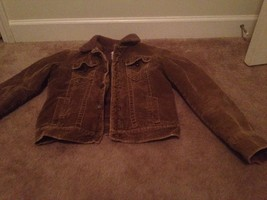 Aeropostale Big Girls Faux Sheep Lined Corduroy Jacket Sz M Brown - $39.03