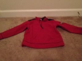 Arizona Little Kids Fleece Jacket 1/4 Zip Front Sz Large Red Jacket - $19.40