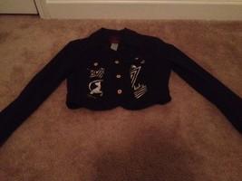Baby Phat Authentic Women's Denim Jean Short Jacket Sz M Bluish Black - $34.87