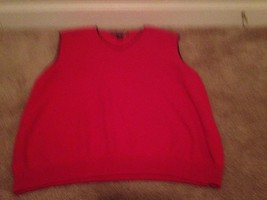 Ivy Crew Men's EUC Sweater Vest Sz XXL Red - $32.48