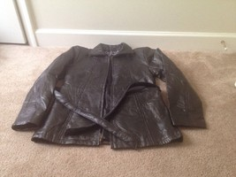 Navarre Leather Company Genuine Leather Jacket Women's Sz S Black Lined ... - $27.80