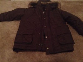 TIMBERLAND Kids Coat Size 4 PreOwned Brown Lined Double Zipper Nice - $27.91