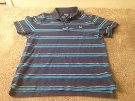 Aeropostale Adult Polo Shirt Sz M Striped Shirt - $27.81
