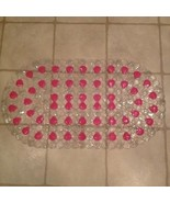 Pink and Clear Diamond Shape Shaped Oval Rubber Bathtub Shower Mat New C... - $19.99