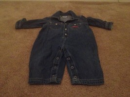 Save The Children's Collection Toddler Boys Blue Denim Jean Coveralls Sz 12M - $18.86
