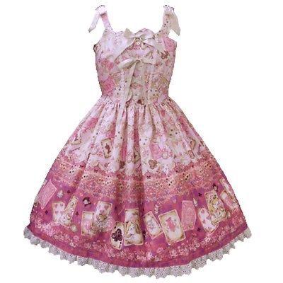 Baby The Stars Shine Bright Disney Alice Scalloped JSK Pink Lolita Fashion BTSSB