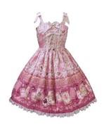 Baby The Stars Shine Bright Disney Alice Scalloped JSK Pink Lolita Fashi... - $439.00