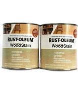 2 Cans Rust-Oleum Ultimate Wood Stain Dries In Hour One Coat Mineral Gre... - $34.99