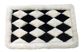 Alpakaandmore Alpaca Fur Rug Chess Design Handmade Different Sizes Black and ... - $193.05