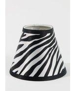 "Urbanest Zebra Hardback Chandelier Lamp Shade, 3""x6""x5"", Clip-on - $9.89"