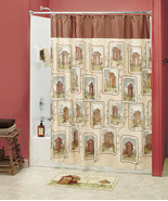 Linda Spivey 18-Pc Set Lodge Country Outhouse Shower Curtain and Bath Ac... - $135.22