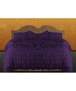 BERRY Chiffon RUFFLE BedSpread with Ruffle Pillow Shams - $179.50