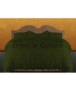 MOSS Chiffon RUFFLE BedSpread with Ruffle Pillow Shams - $179.50