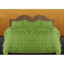 SAGE GREEN Chiffon RUFFLE BedSpread with Ruffle... - $179.50
