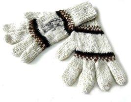 Alpakaandmore Womens Hand-knitted Gloves Alpaca Wool White (large) [Appa... - $20.79