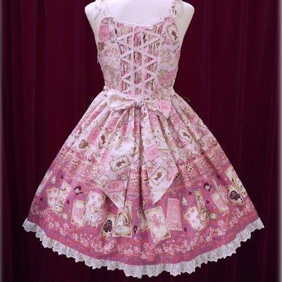 Baby The Stars Shine Bright Disney Alice Scalloped JSK Pink Lolita Fashion BTSSB image 7