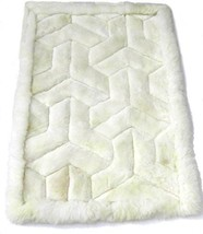 Alpakaandmore Alpaca Fur Rug Boomerang Design Handmade Different Sizes 35.5 X... - $193.05